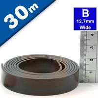 Self Adhesive Magnetic Tape Magnet Strip B 1.5mm x 12,7mm x  30m