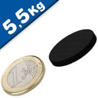 Round Disc Magnet Ø  25 x  3mm Neodymium N45 (Rare Earth) Epoxy - pull 5,5 kg