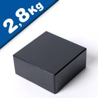 Aimant rectangulaire Bloc  10 x  10 x  4mm Néodyme N48, Époxy - force 2,8 kg