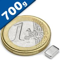 Quadermagnet Magnet-Quader   6 x   4 x  2mm Neodym N44H, Nickel - hält 700g