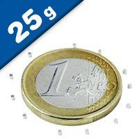 Scheibenmagnet / Rundmagnet Ø  1x 1mm – Neodym N45 (NdFeB) Nickel - hält 25g