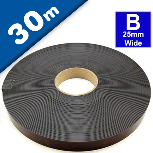 Self Adhesive Magnetic Tape Magnet Strip B 1,5mm x 25,4mm x 30m