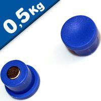 Imán de Oficina Ø 10mm x 8mm Neodimio, azul - fuerza 0,5 kg