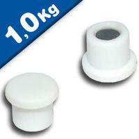 Marker/Notice Board Magnet Ø 18 x 8mm Neodymium, white - pull 1,0 kg