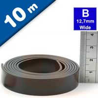 Self Adhesive Magnetic Tape Magnet Strip B 1.5mm x 12,7mm x 10m