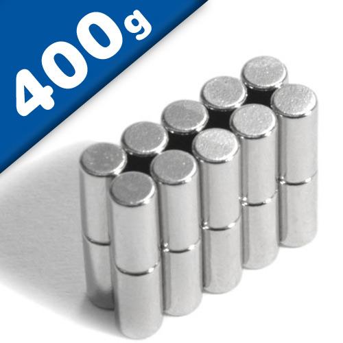 Rod Magnet Ø  3 x   6 mm Neodymium N48, Nickel - pull 400 g