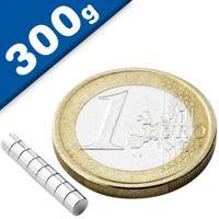 Scheibenmagnet / Rundmagnet Ø  3x 2mm – Neodym N35 (NdFeB) Nickel- hält 300g