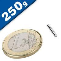 Scheibenmagnet / Rundmagnet Ø  2x 2mm – Neodym N45 (NdFeB) Nickel - hält 250g