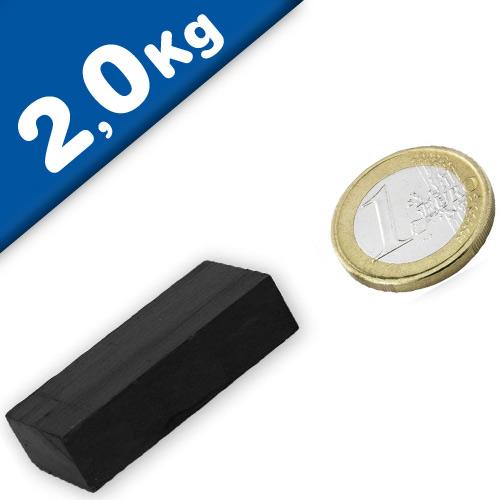Aimant rectangulaire Bloc magnétique  40 x  20 x 10mm Ferrite Y35 – Force 2,0kg