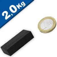 Block Magnet  40 x  20 x 10mm Ferrite Y35 - pull 2 kg