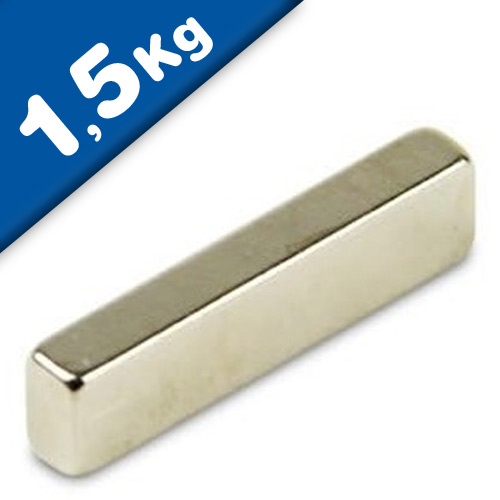 Block Magnet  20 x   5 x  2mm Neodymium N44H (Rare Earth) Nickel - pull 1,5 kg