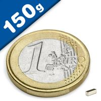 Quadermagnet Magnet-Quader   3 x   1 x  1mm Neodym N45, Nickel - Haftkraft 150g