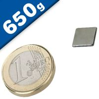 Quadermagnet Magnet-Quader  10 x 10 x  1mm Neodym N42, Nickel - Haftkraft 650g
