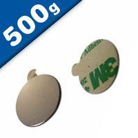 Aimant rond Disque magnétique autocollant Ø 10 x  1mm Néodyme N35 – Force 500g