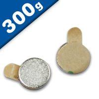 Disco magnetico autoadesivo Ø  6 x 1mm Neodimio N35 - forza 0,3 kg