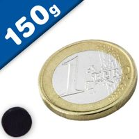 Disc Magnet Ø   8 x  2 mm Ferrite Y30 no coating - pull 150 g