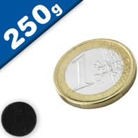 Scheibenmagnet Rundmagnet Ø 10 x  3mm Ferrit Y30 - hält 250g - Keramik-Magnet