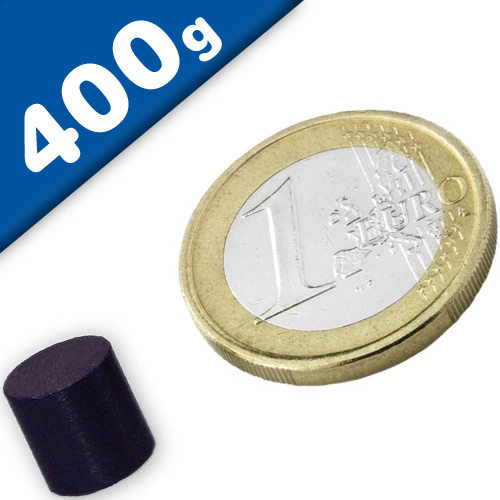 Disc Magnet Ø  10 x 10mm Ferrite Y35 no coating - pull 400 g