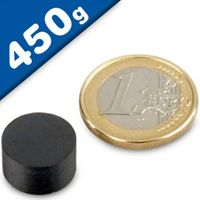 Disc Magnet Ø  14 x  8mm Ferrite Y30 no coating - pull 450 g