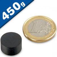 Aimant rond Disque magnétique Ø 14 x  8mm Ferrite Y30 sans plaquage – force 450g