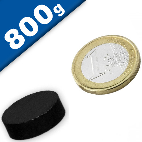 Disc Magnet Ø  20 x  6mm Ferrite Y30 no coating - pull 800 g