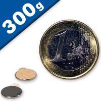 Aimant rond Disque magnétique autocollant Ø  8 x 0,75mm Néodyme N35 – Force 300g