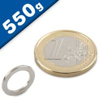 Ring Magnet Ø 13/9 x 1mm Neodymium N40, Nickel - pull 550 g
