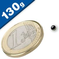 Sphere Magnet Ø  3mm Neodymium N40, Nickel – pull 130 g