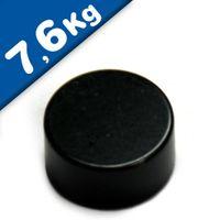 Scheibenmagnet / Rundmagnet Ø 12x10mm – Neodym N45 (NdFeB) Epoxid - hält 7,6 kg