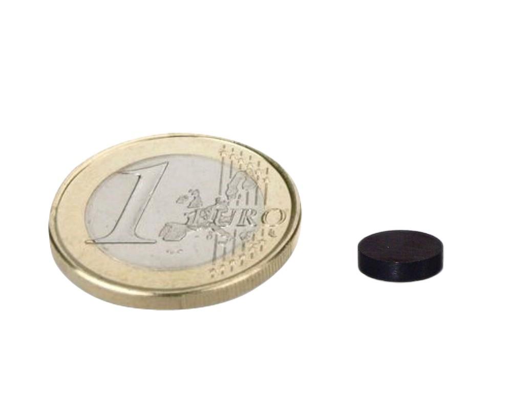 Nickel 10 x Scheibenmagnet Neodym N45 Rundmagnet Ø  8x 5mm hält 2,5kg