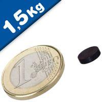 Scheibenmagnet / Rundmagnet Ø  8x 3mm – Neodym N45 (NdFeB) Epoxid - hält 1,5 kg