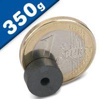 Ringmagnet Ø  11 x  2,7 x  4,5mm Ferrite Y30 – pull 350 g