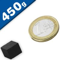 Magnetic Block Bar Magnet  10 x  10 x  8mm Ferrite (Ceramic) Y35 – pull 450 g