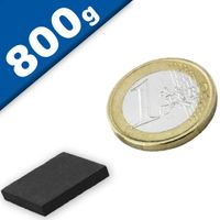 Block Magnet  20 x  20 x  3mm Ferrite Y35 – pull 550 g