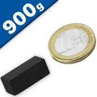Aimant rectangulaire Bloc magnétique  25 x  10 x 10mm Ferrite Y30 - Force 900g