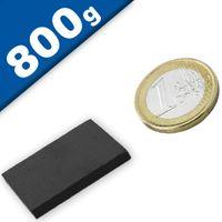 Aimant rectangulaire Bloc magnétique  30 x  30 x  3mm Ferrite Y30 - Force 800g