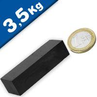Aimant rectangulaire Bloc magnétique  60 x  20 x 15mm Ferrite Y35 - Force 3,5kg