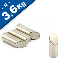 Stabmagnet Gehrung Mitra 45° Ø 10mm x 30mm Neodym N42 - Nord - Haftkraft 3,6kg
