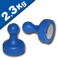 Magnetic Push Pins Skittle Magnet big Ø 19 x 25mm Neodymium - BLUE – pull 2,3kg