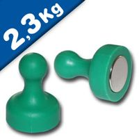 Magnetic Push Pins Skittle Magnet big Ø 19 x 25mm Neodymium - GREEN – pull 2,3kg