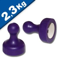 Magnetic Push Pins Skittle Magnet big Ø 19 x 25mm Neodymium - PURPLE, pull 2,3kg