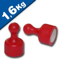Magnetic Pins Skittle Magnet small Ø 12 x 20mm Neodymium - RED – pull 1,6 kg