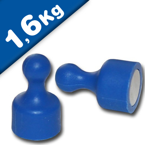Magnetic Pins Skittle Magnet small Ø 12 x 20mm Neodymium - BLUE – pull 1,6 kg