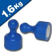 Kegelmagnet Kegel Pinnwand Magnet klein Ø 12 x 20mm BLAU, Neodym – hält 1,6 kg