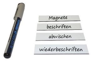 Magnetic Labels Marking Tape Strips - Write-On/Write-Off - 2 x 8 cm