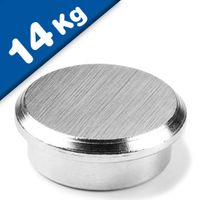 Steel Memo Magnet - Office Magnet with steelpot Ø 25 mm Neodymium (Rare Earth)