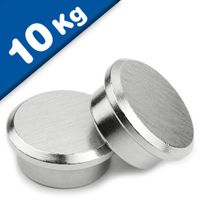Steel Memo Magnet - Office Magnet with steelpot Ø 22 mm Neodymium (Rare Earth)