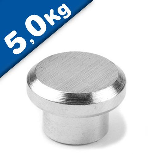 Pinnwand Magnet Magnetpins aus Stahl - Ø 12 mm Neodym (NdFeB) - Haftkraft 5 kg