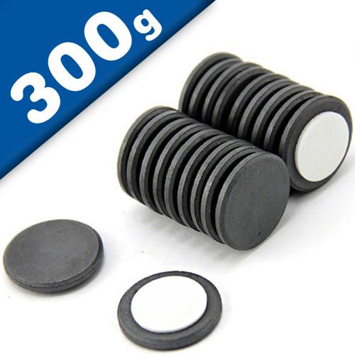 Disc Magnet Ø 22 x  2mm Ferrite Y30 foam adhesive – pull 300 g