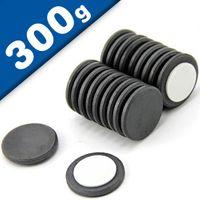 Scheibenmagnet selbstklebend Ø 22 x 2mm Ferrit Y30 - hält 300g - Keramik-Magnet